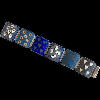 German Vintage Mid-Century Matte Enamel Bracelet
