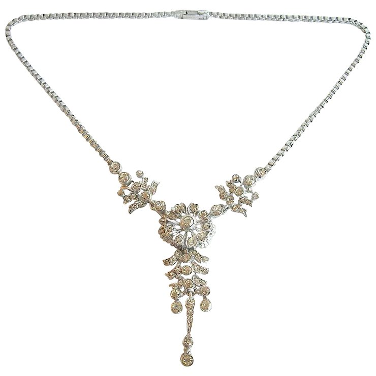a shop designs b maher white pearl ab set sets necklace and stone rhinestone michele