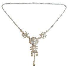 Ralph DeRosa Vintage Sterling 1940s Rhinestone Necklace