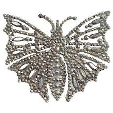 Antique Georgian Cut Steel Butterfly Pin