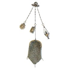 Late  Victorian / Belle Époque Silver Chatelaine with Purse