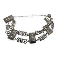 """Peruzzi """"800 Silver""""  Florence Vintage Renaissance Revival Bracelet"""