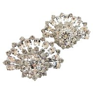 Vintage Austrian Pair of Gorgeous Rhinestone Brooches