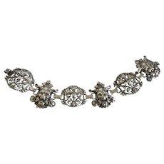 Vintage Renaissance Revival Sterling Silver Bracelet by G. Cini