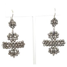 Antique Cut Steel Victorian Earrings