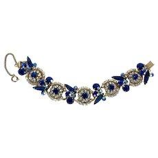Juliana Blue & Aurora Borealis Rhinestone Bracelet by DeLizza & Elster