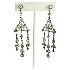 Vintage Art Deco Chandelier Screw Back 1920s / 1930s Earrings