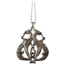 925 Sterling Vintage Mythical Creature Pendant