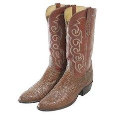 TO Stanley Hornback Lizard Custom Cowboy Boots