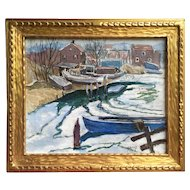 Harry Hering (American, 1887-1967) 1931 Harbor Scene Cape Cod Provincetown MA