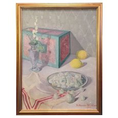 1931 Katharine McIntire (New York 1880- ) American Impressionist Still Life Painting