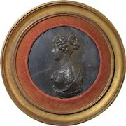 c1810 Berlin Iron Portrait Medallion/Medal of Louise of Prussia by Leonhard Posch.. Antique