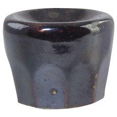Antique Bennington Rockingham Pottery Inkwell 19thC