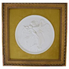Bing & Grondahl Bisque Parian Classical Plaque w/ Angel & Putti #1