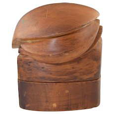 Vintage Puzzle Hat Block Wooden Form Millinery Capitol Hat Block Co. NY