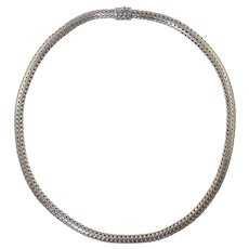 """John Hardy 18"""" Wheat Sterling Necklace 6.5mm x 4.5mm 62.5 grams"""