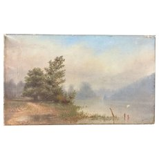 Louis Edward Rea (California American 1868-1927) Napa River Landscape Painting