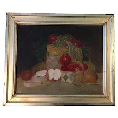 Bertram Walter Priestman (British 1868-1951) Still Life w/Fruit Oil Painting