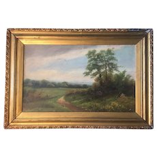 Antique English Landscape Painting Signed E. Chester 19thC