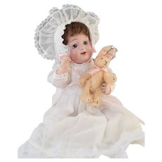 """Sweet! Morimura Japanese Bisque & Compo Character Baby Doll 12"""""""