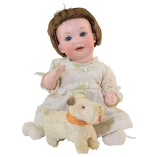 """Adorable! Antique AM 971 10"""" Bisque & Compo Character Baby Doll"""