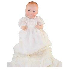 "Sweet Little AM Dream Baby German Bisque Doll 341/8K 10"" in Long Christening Dress"