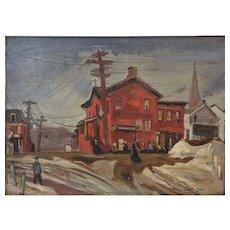 Elizabeth Olds (American 1896-1991) Painting WPA-FAP NY Social Realist Artist