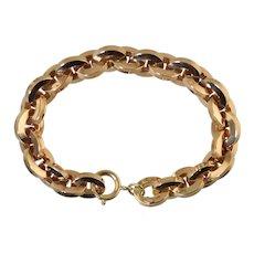 Vintage 18K Italian Gold Hollow Link Bracelet Retro 20.7g