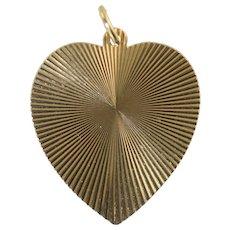 Vintage Large 14k Gold Heart Charm 9.7g