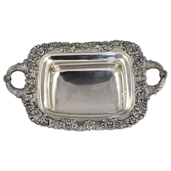 Magnificent Thibault Bros Philadelphia Coin Silver Bread Basket c1820-1835