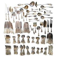 286 piece Mythologique Gorham Sterling Silver Flatware Set* Once in a lifetime! Service for 12