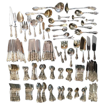 286 piece Mythologique Gorham Sterling Silver Flatware Set* Once in a lifetime! Service for 12