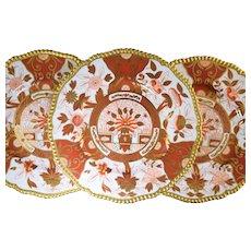 Glorious! 14 Antique Copeland Spode Imari Pattern Plates w/Gold Gadroon Borders