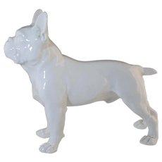 "Vintage Meissen Porcelain French Bulldog 7 1/4"" x 6 3/8"""
