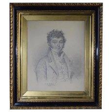 1829 Charles G. Dillon Pencil Drawing Georgian Miniature Portrait Artist