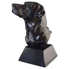 "David Turner ""Lab Bust"" Labrador Dog Bronze Marble Base #54/200 limited edition"