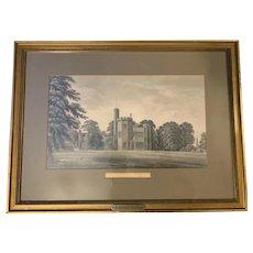1855 Original Graphite Pencil Drawing Childwall Hall Liverpool England English by Michael Scott