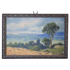 Franz Strahalm (1879-1935) Texas Hill Country Landscape Painting Oil on Board