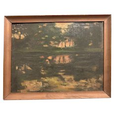 Ruel Pardee Tolman (1878-1954) Impressionist Landscape Painting Washington DC