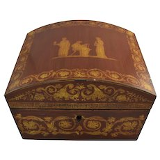 Vintage Neo Classical Domed Jewelry Box Wilton & Lee Designer Reproduction
