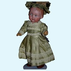 """Antique German A & M Googly 210 Large 9"""" doll"""