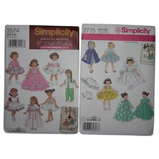 """Archive 8"""" doll Patterns Simplicity never been cut mint"""