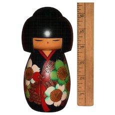 Gorgeous Mint Japanese Kokeshi wooden doll figure