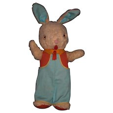 "Vintage wool plush 18"" bunny rabbit"