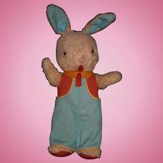 "Vintage wool plush 18"" bunny rabbit"