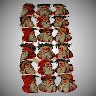 Vintage 18 die cut embossed Victorian style clip art Santa