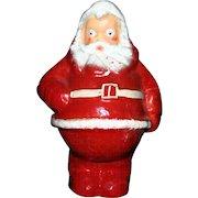"Large vintage 7.25"" Paper mache Santa candy container"