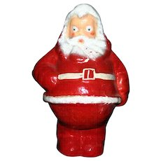 "Large vintage 7.25"" Paper mache Santa candy container"
