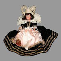 "9"" French Bretonne celluloid  vintage tagged doll"