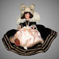 "9"" French Bretonne celluloid  vintage tagged doll"